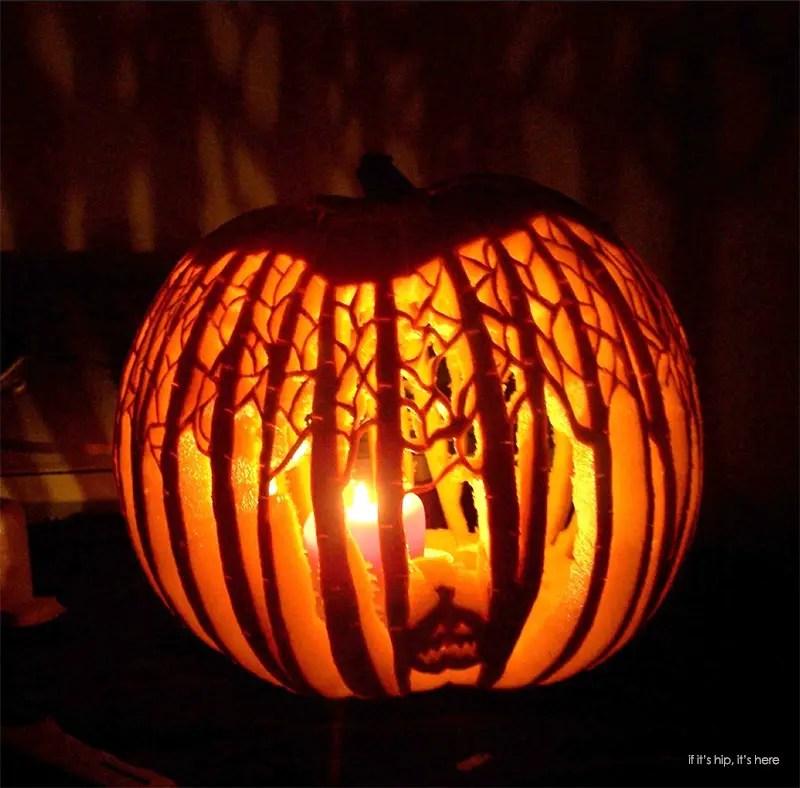 karyn poplin spooky forest pumpkin2