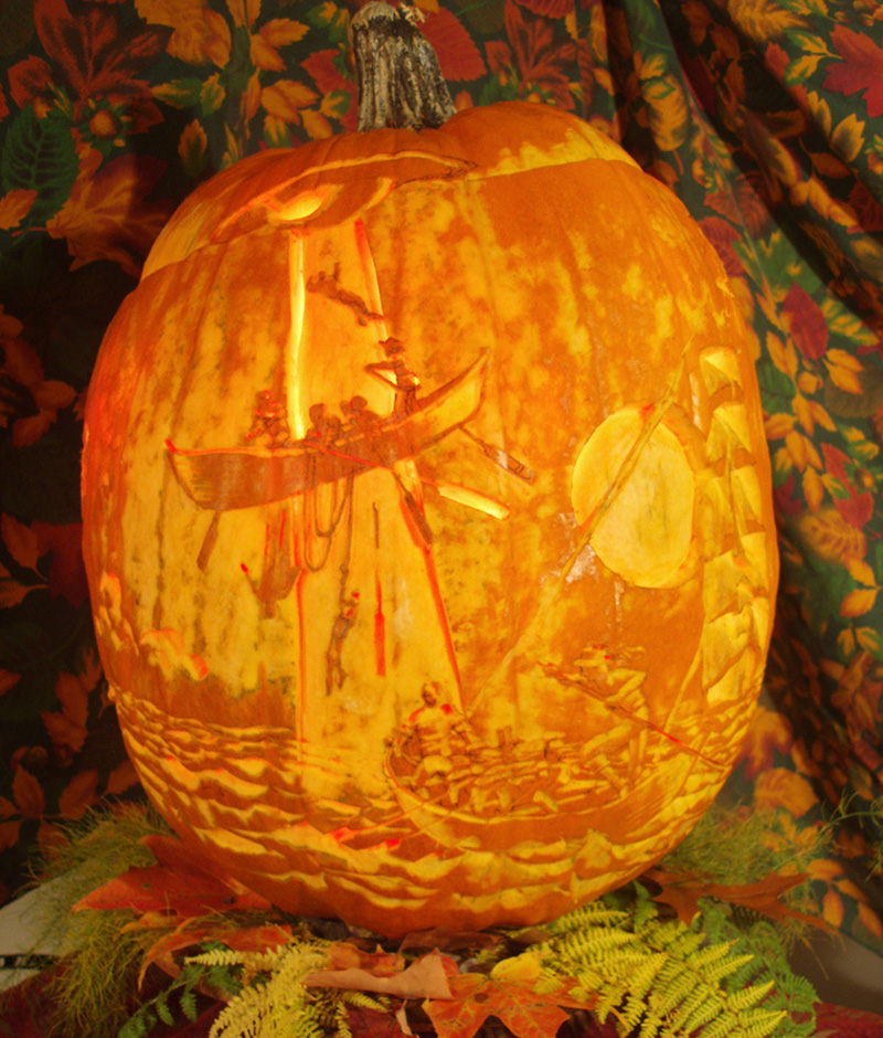 The incredible narrative pumpkin carvings of jeff stikeman