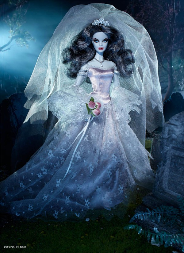 Limited Edition Zombie Bride Barbie Doll Hauntingly