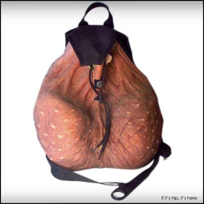scrote n' tote nutsac backpack