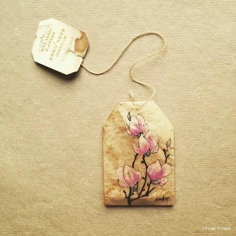 saucer magnolia painting