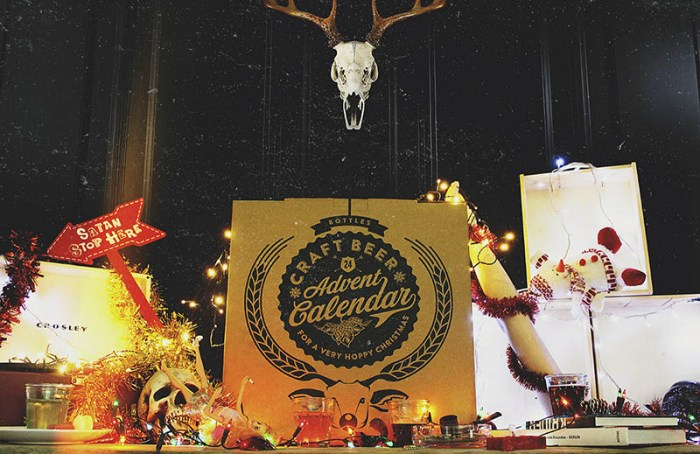 craft beer advent calendar in situ