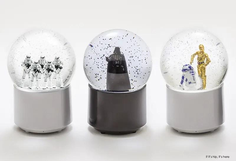 star wars wireless snow globe speakers white bckgd