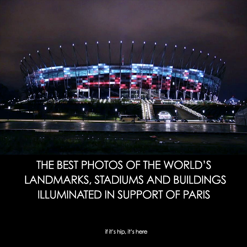 the world lights up for paris