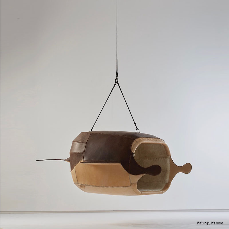 M.Heloise Manta Ray Hanging Chair by Porky Hefer, photo by justin Patrick 2