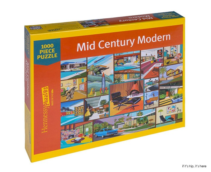 Mid-Century Modern 1000 piece puzzle boxed