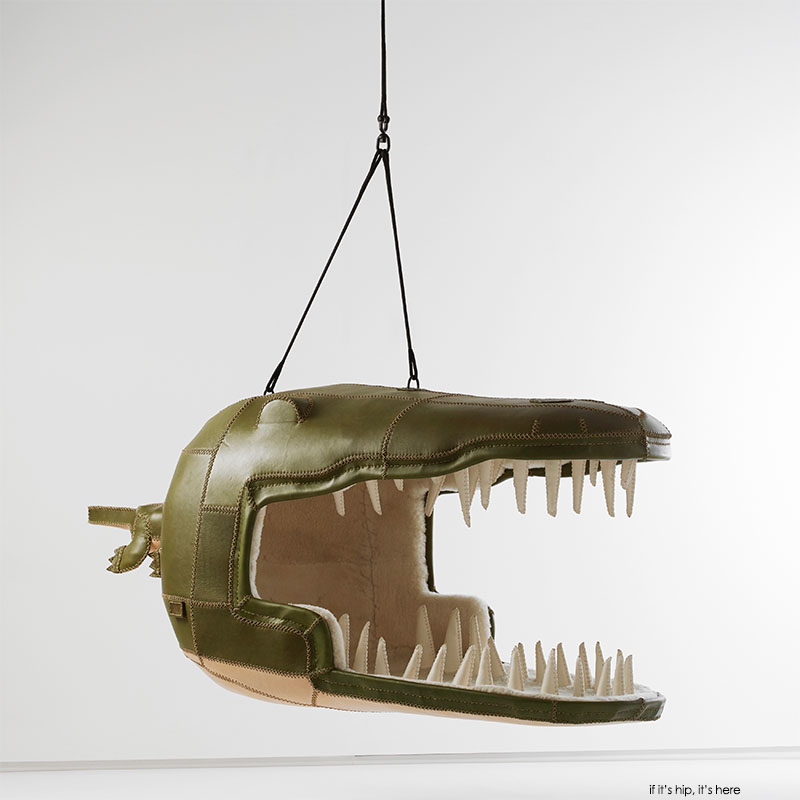 crocodile hanging chair by porky hefer, photo by justin patrick