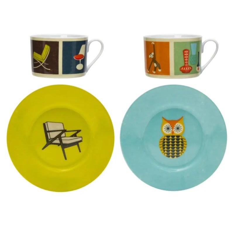 Tea Set, Chairs