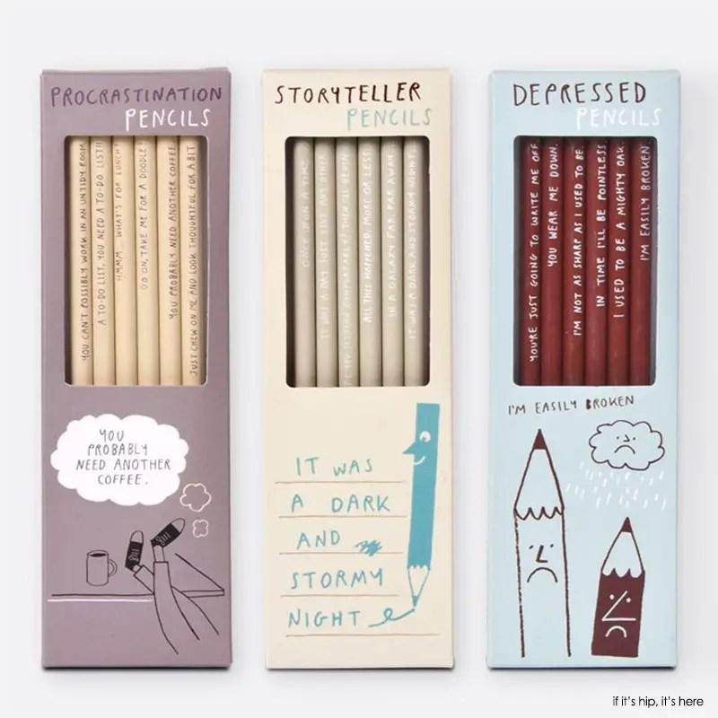 procrastination storyteller and depressed pencil sets