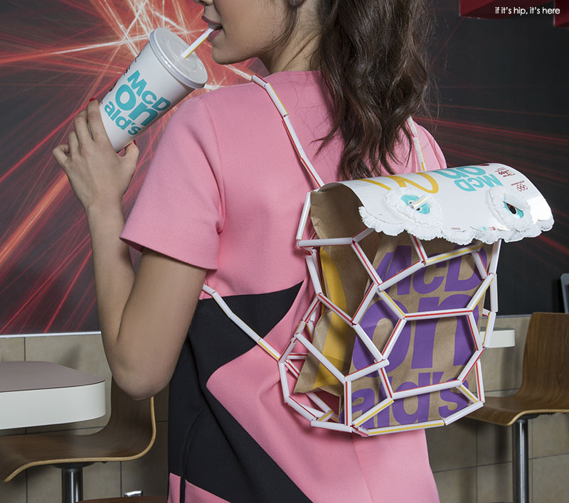 Backpack made from McDonalds new 2016 Packaging
