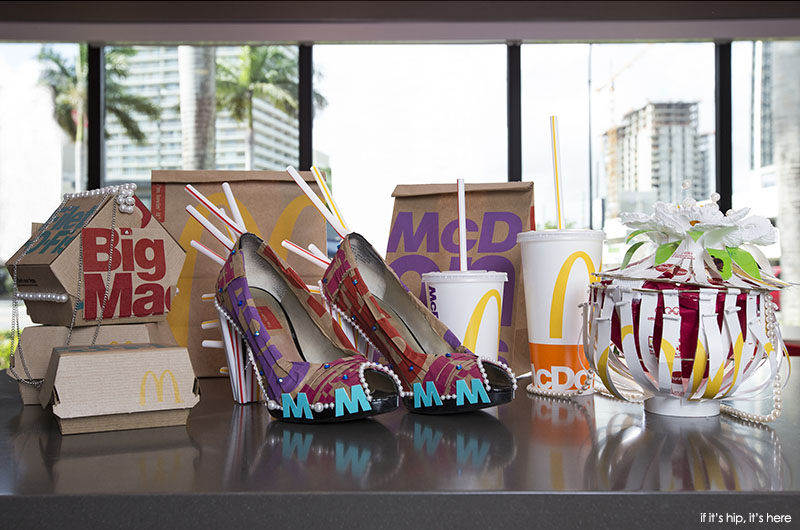 Fashion accessories made from McDonalds New Packaging 2016