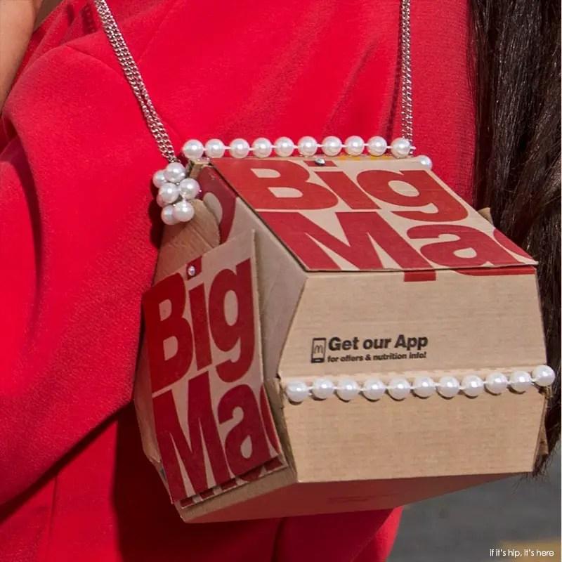 big mac purse with pearls