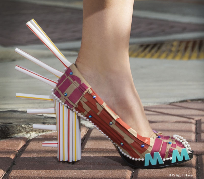 mcdonalds new packaging shoe close up