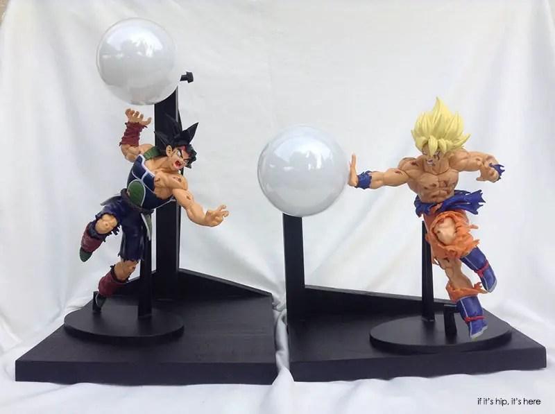 Bardock Vs Goku Custom Lamps set