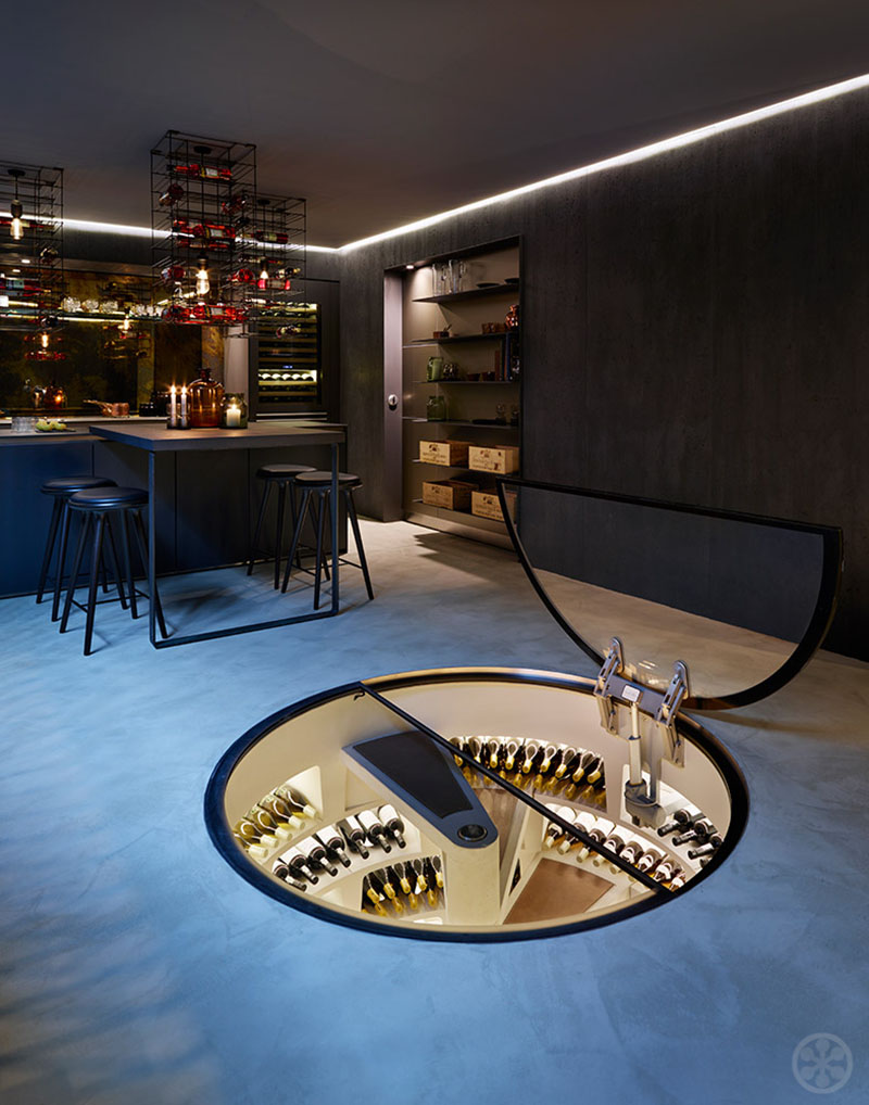 inspiring wine cellars in private homes if it 39 s hip it. Black Bedroom Furniture Sets. Home Design Ideas