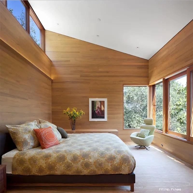 wood clad bedroom