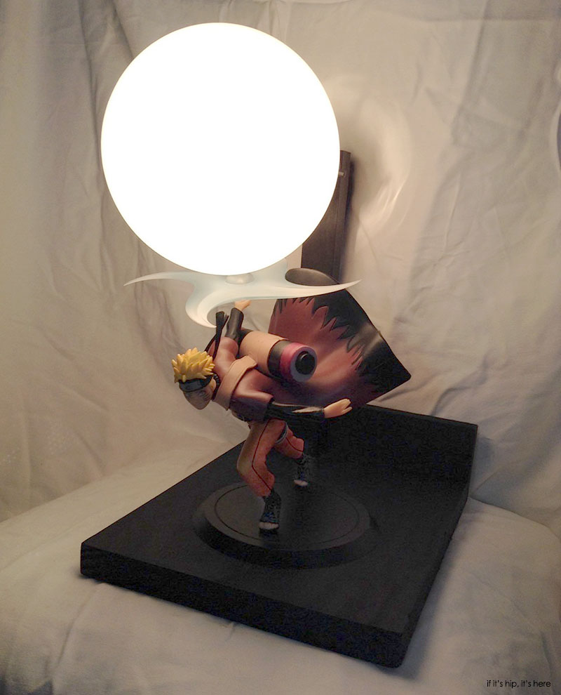 lamp with Naruto figure