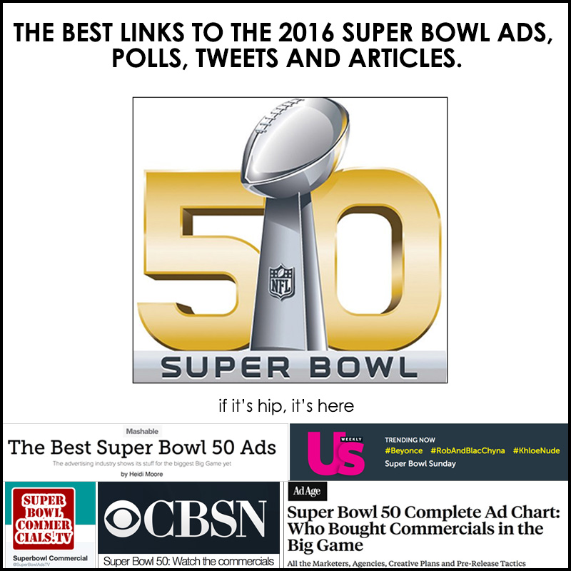links to all the 2016 super bowl ads