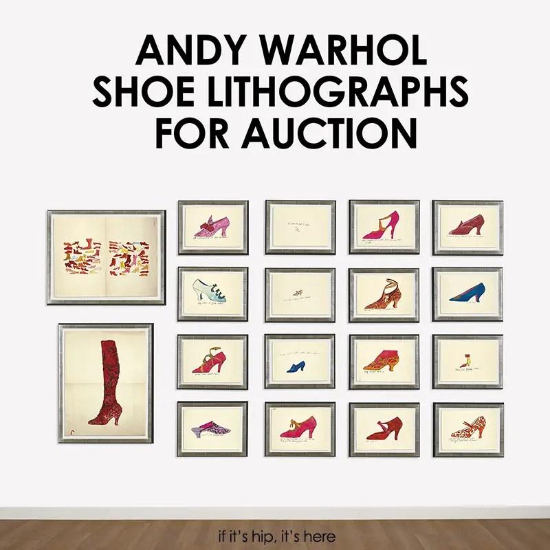 andy warhol shoe lithos