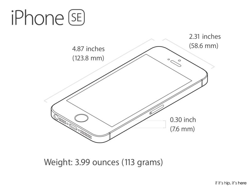 Dimension Iphone Se