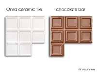 Onza Ceramic Tiles Inspired by Chocolate Bars