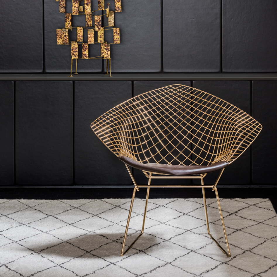 Knoll 18k GoldPlated Vintage Classics Bertoia and Platner