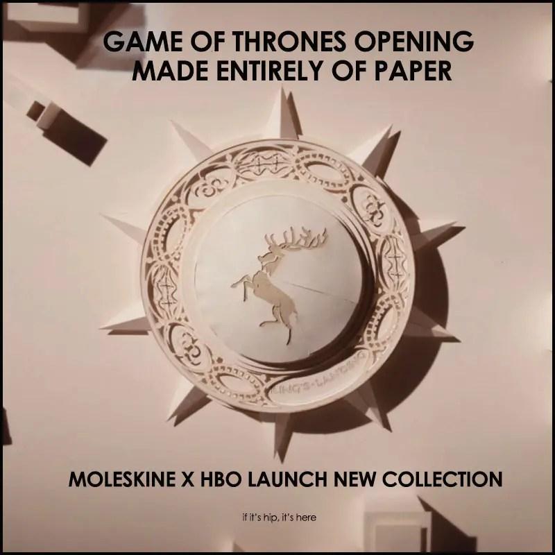 Moleskine Game of Thrones Video
