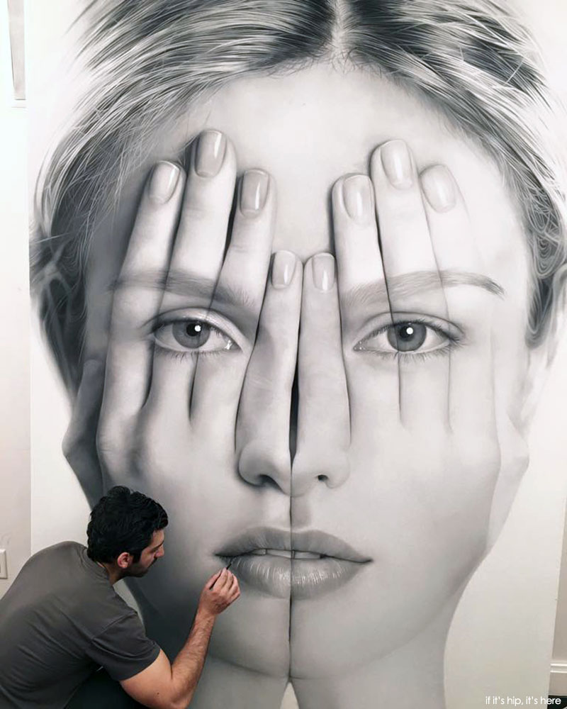 A look at tigran tsitoghdzyan paintings for Miroir 100 x 70