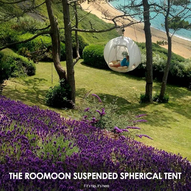 Roomoon suspended spherical tent