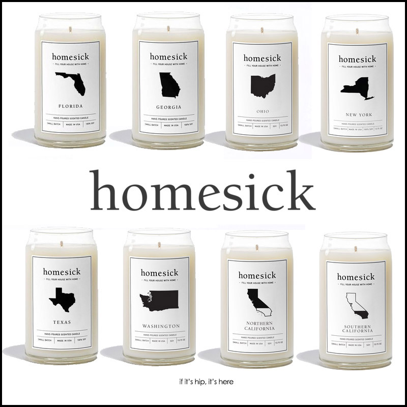state-scented homesick candles
