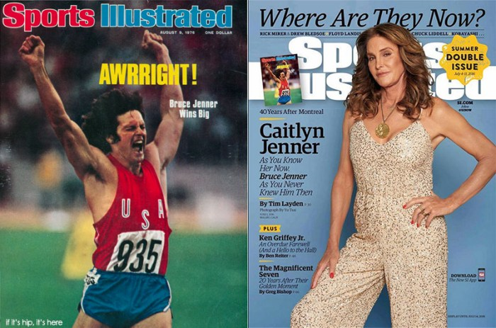 Sports Illustrated covers in 1976 and 2016, forty years apart.