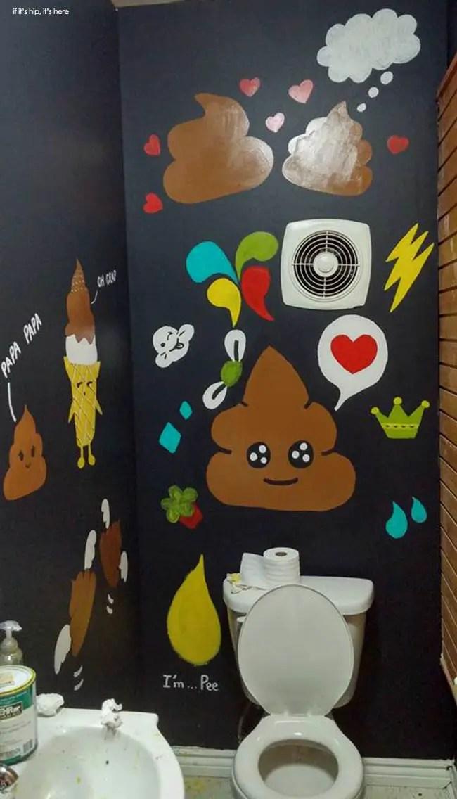 The actual functioning bathroom in the Poop Café