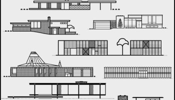 Mid Century Modern Homes As Line Art Letterpress By Michael Nykamp