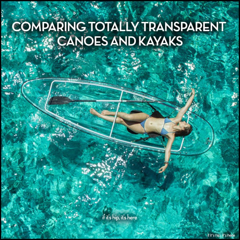 transparent canoes and kayaks