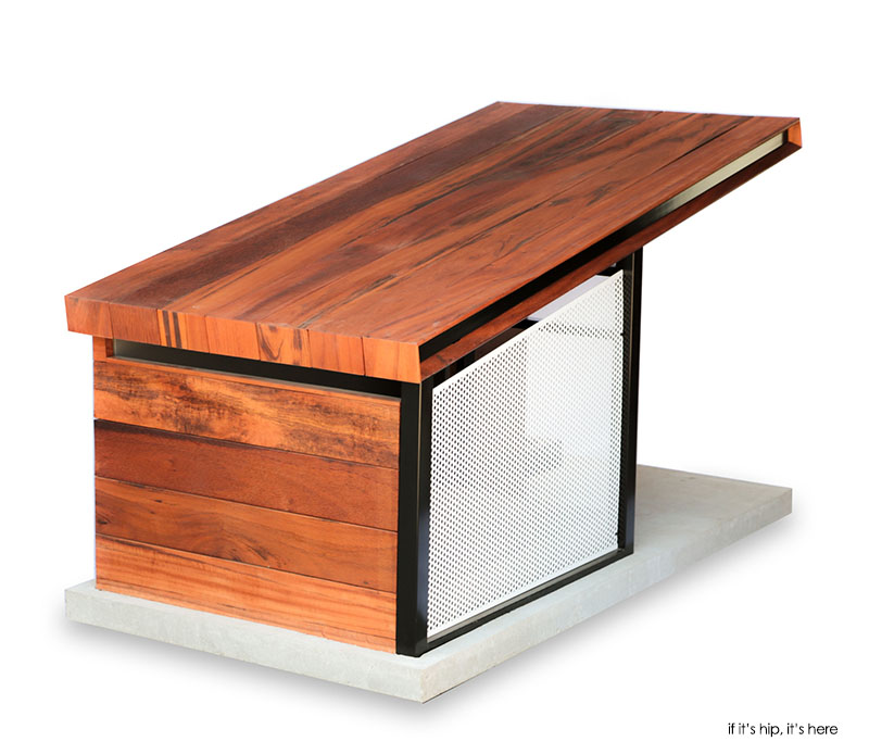 The dog house is designed with a definite mid-century modern influence yet retains all the comforts a dog needs. No detail is left unconsidered an ...  sc 1 st  If Itu0027s Hip Itu0027s Here & The Stunning Modern RAH:Design MDK9 Dog Haus