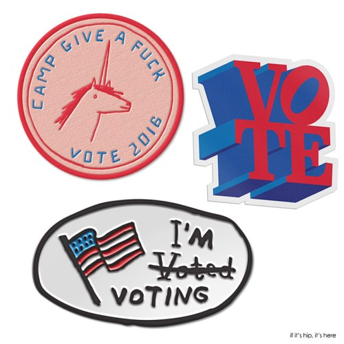 Read more about the article Pins Won't Save The World: Artist Designed Pro-Hillary and Anti-Trump Merchandise