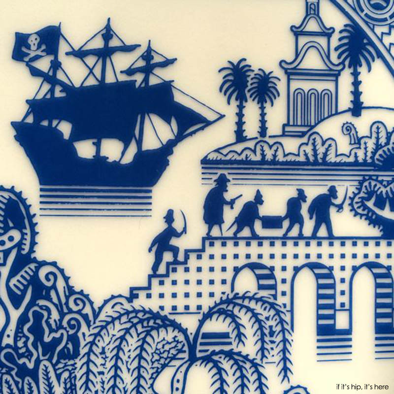 detail from Pirates plate