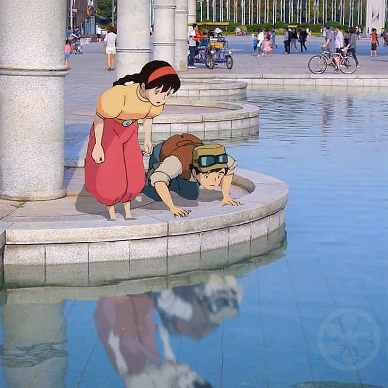 Animated Characters From Studio Ghibli In The Real World