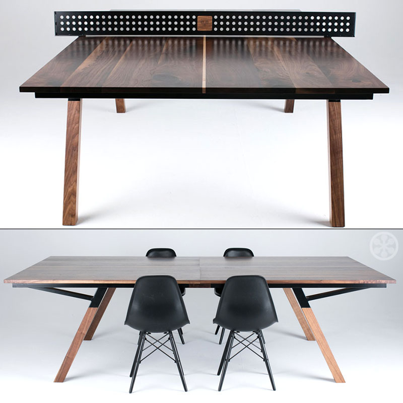 Sean Woolsey S Walnut Wood Ping Pong Table Dining Table