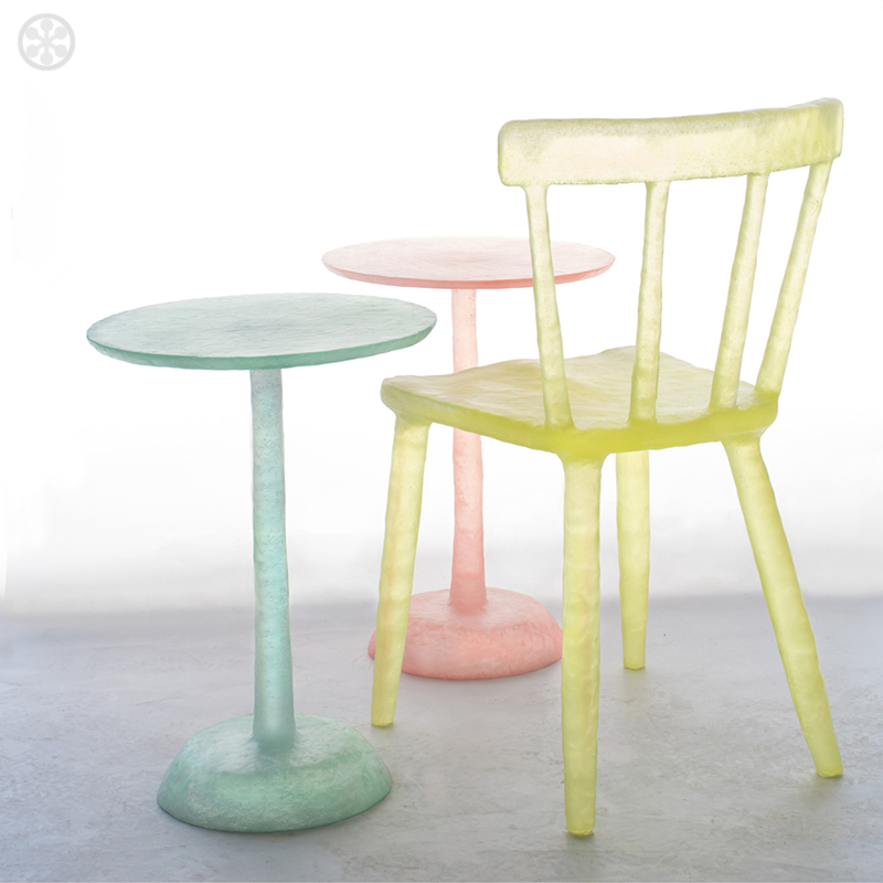 translucent icy pastel furniture made from recycled plastic - Pastel Furniture