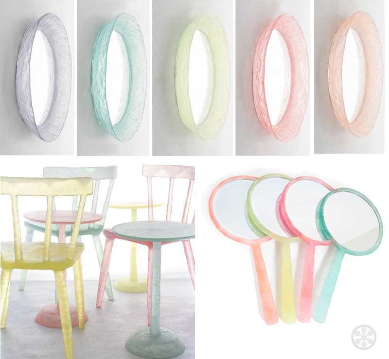 although likened to candy these are not pieces like those by jellio these are attractive functional pieces that have an ethereal quality and - Pastel Furniture