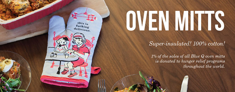 Oven Mitts With Attitude