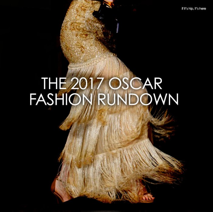 2017 Oscar Fashions