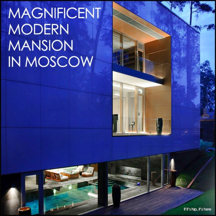 modern mansion in moscow