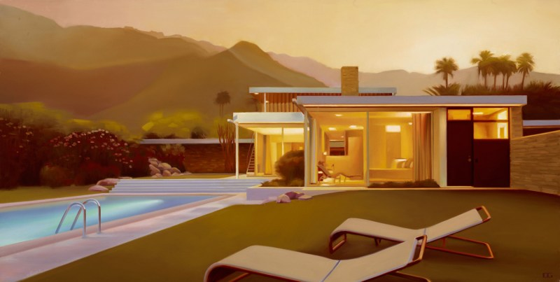Carrie Graber Palm Springs Pool Paintings Amp Mcm Architecture