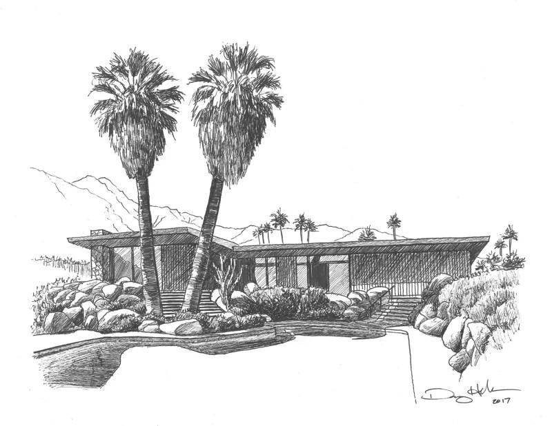 edris house drawing by Danny Heller