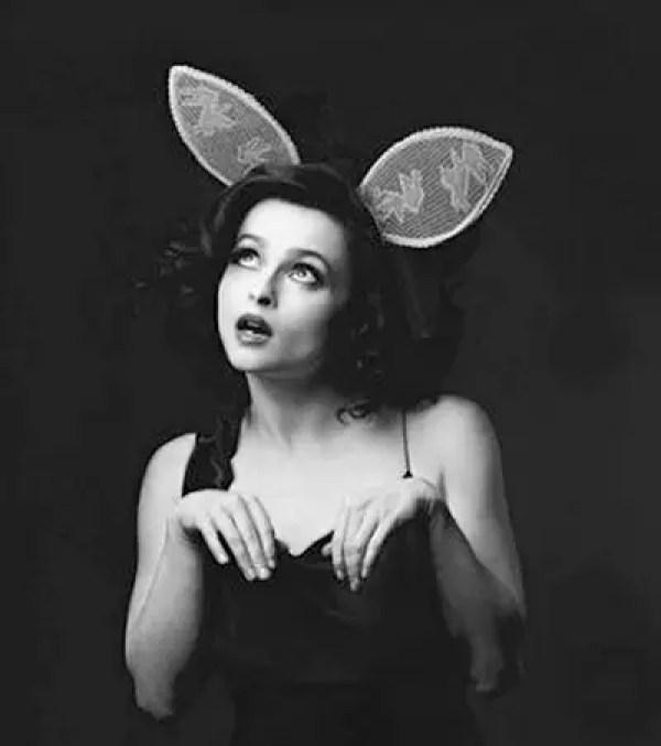 Helena Bonham Carter as a bunny