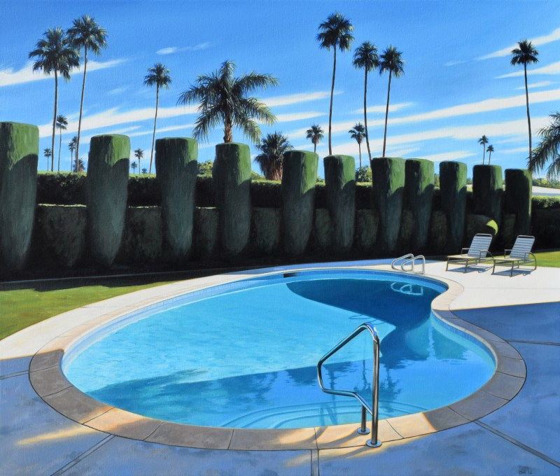 Pool and Hedges by Danny Heller