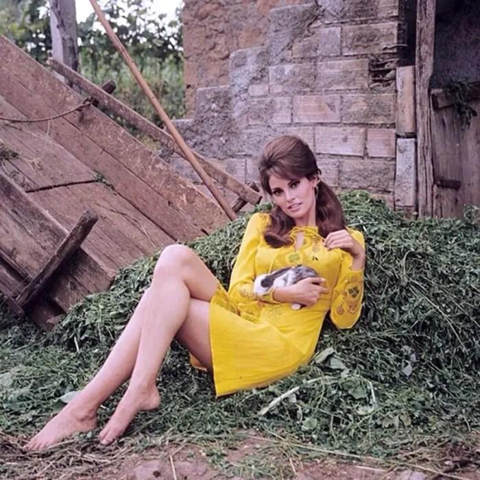 Raquel Welch with bunny