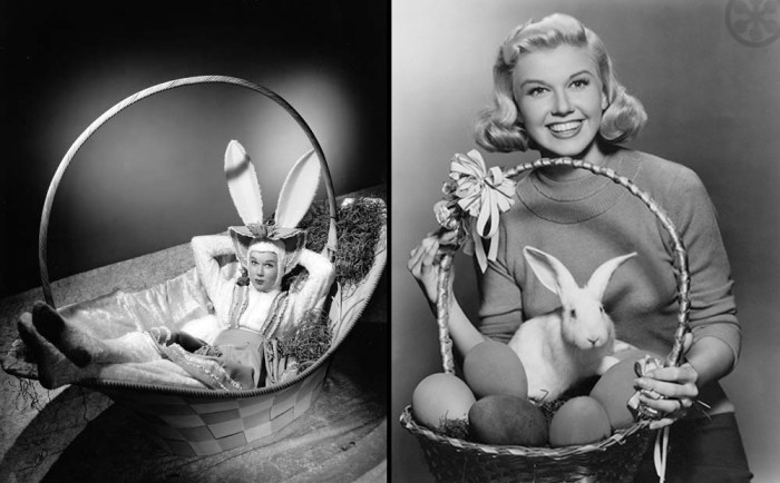 Doris Day in and with an Easter basket